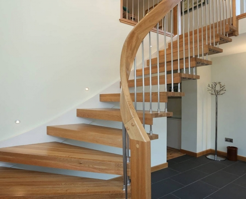دکوراسیون چوبی پله خانه